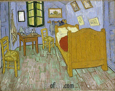 Vincent's Bedroom in Arles, 1889 | Vincent van Gogh | Painting Reproduction