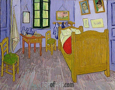 Van Gogh's Bedroom at Arles, 1889 | Vincent van Gogh| Gemälde Reproduktion