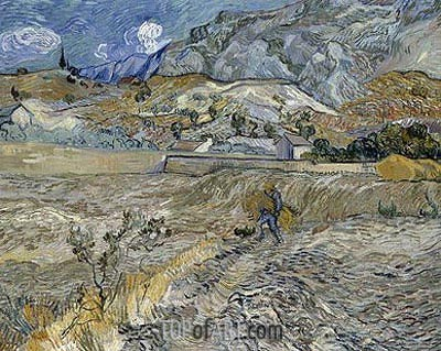 Vincent van Gogh | Enclosed Wheat Field with Peasant, 1889