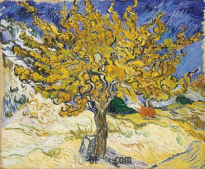 The Mulberry Tree, 1889 | Vincent van Gogh| Gemälde Reproduktion