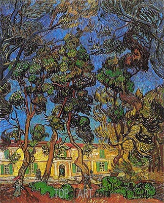 Trees in the Garden of Saint-Paul Hospital, 1889 | Vincent van Gogh | Gemälde Reproduktion