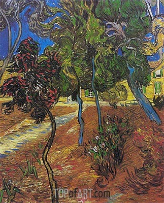 Garden of St. Paul's Hospital, 1889 | Vincent van Gogh | Gemälde Reproduktion