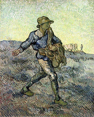 The Sower (after Millet), 1889 | Vincent van Gogh | Painting Reproduction