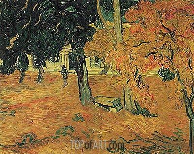 The Garden of Saint-Paul Hospital, 1889 | Vincent van Gogh| Painting Reproduction