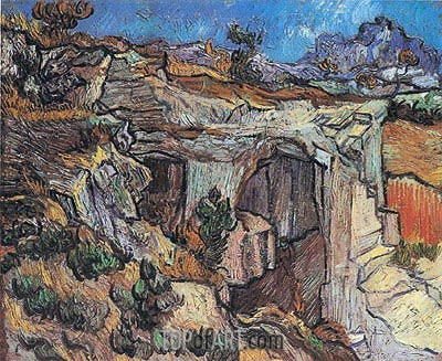 Entrance to a Quarry near Saint-Remy, 1889 | Vincent van Gogh | Painting Reproduction