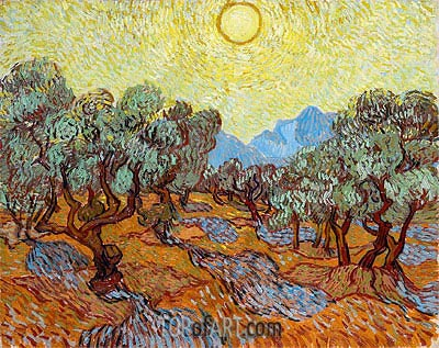 Olive Trees, 1889 | Vincent van Gogh | Gemälde Reproduktion
