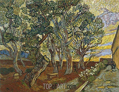 The Garden of Saint-Paul Hospital, 1889 | Vincent van Gogh | Painting Reproduction