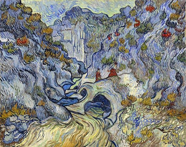 The Ravine (Les Peiroulets), 1889 | Vincent van Gogh | Gemälde Reproduktion