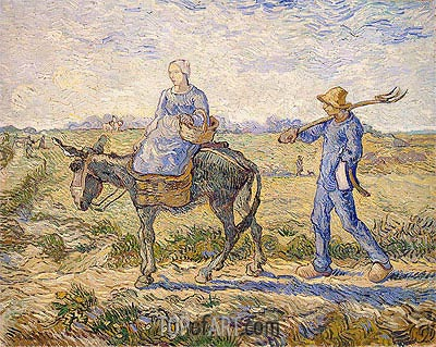 Morning: Going out to Work (After Millet)  , 1890 | Vincent van Gogh| Painting Reproduction