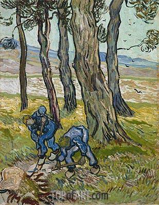 The Diggers (Les Becheurs), 1889 | Vincent van Gogh | Gemälde Reproduktion