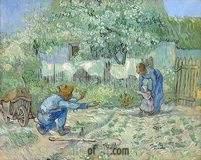 Vincent van Gogh | First Steps (after Millet), 1890