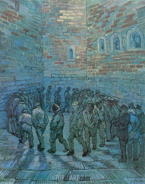 Prisoners Exercising (after Dore), 1890 | Vincent van Gogh | Gemälde Reproduktion