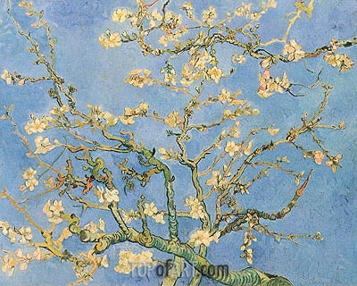 Blossoming Almond Tree, 1890 | Vincent van Gogh| Gemälde Reproduktion