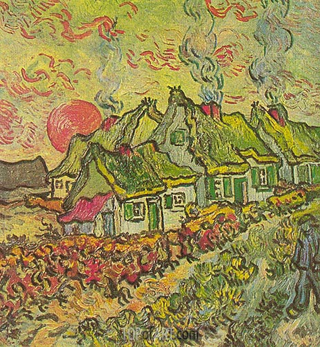 Vincent van Gogh | Cottages - Reminiscence of the North, March-Apri