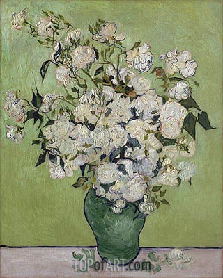 Vase of Roses, 1890 | Vincent van Gogh | Painting Reproduction