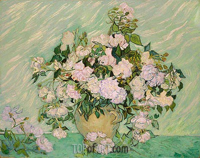 Roses, 1890 | Vincent van Gogh | Gemälde Reproduktion