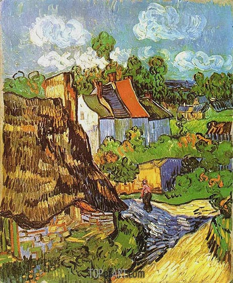 House in Auvers, May 1890 | Vincent van Gogh | Painting Reproduction