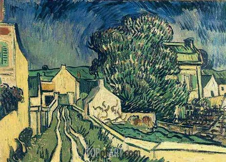 The House of Pere Pilon, May 1890 | Vincent van Gogh | Gemälde Reproduktion