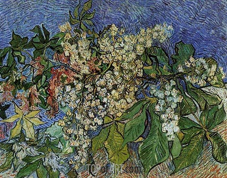 Blossoming Chestnut Branches, 1890 | Vincent van Gogh | Painting Reproduction