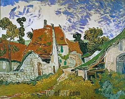 Village Street in Auvers, 1890 | Vincent van Gogh| Painting Reproduction