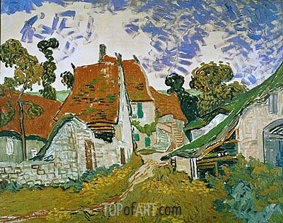 Village Street in Auvers, 1890 | Vincent van Gogh | Gemälde Reproduktion