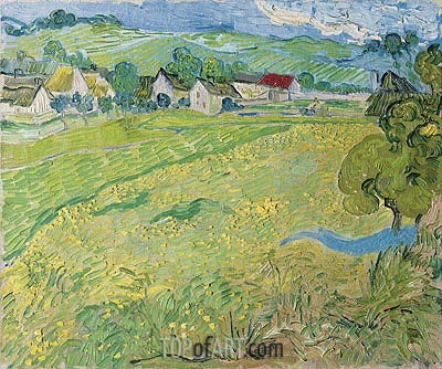 View of Vessenots Near Auvers, 1890 | Vincent van Gogh| Gemälde Reproduktion