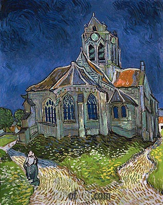 The Church at Auvers-sur-Oise, 1890 | Vincent van Gogh| Gemälde Reproduktion