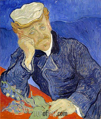 Portrait of Doctor Gachet, 1890 | Vincent van Gogh| Gemälde Reproduktion