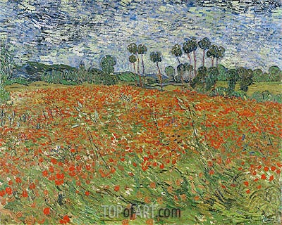 Field with Poppies, 1890 | Vincent van Gogh | Painting Reproduction