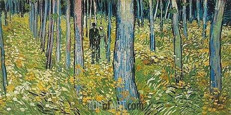 Undergrowth with Two Figures, 1890 | Vincent van Gogh| Painting Reproduction