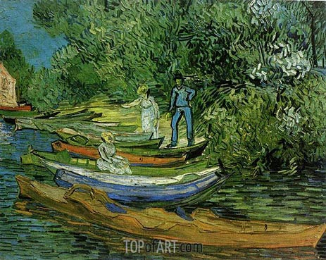 Bank of the Oise at Auvers, 1890 | Vincent van Gogh | Painting Reproduction