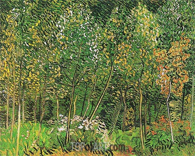 The Grove, July 1890 | Vincent van Gogh | Gemälde Reproduktion