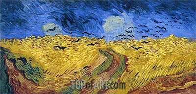 Wheat Field with Crows, 1890 | Vincent van Gogh| Painting Reproduction