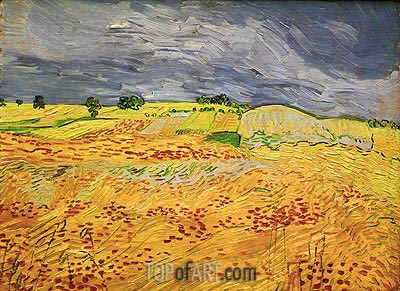 Plain at Auvers, July 1890 | Vincent van Gogh | Painting Reproduction