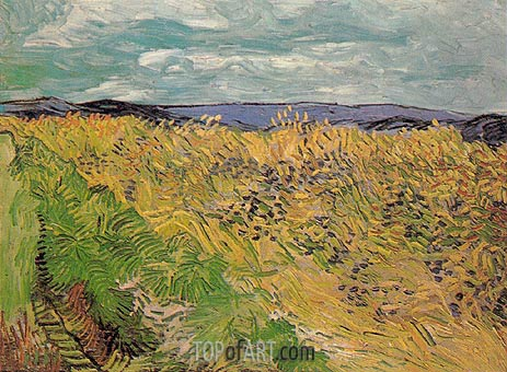 Wheat Field with Cornflowers, July 1890 | Vincent van Gogh | Painting Reproduction
