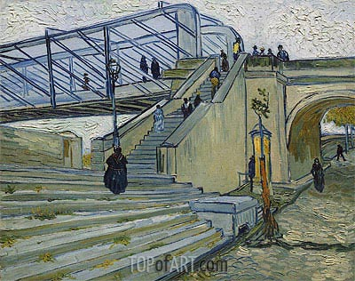 The Trinquetaille Bridge, 1888 | Vincent van Gogh| Painting Reproduction