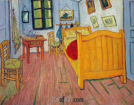 Vincent's Bedroom in Arles, 1888 | Vincent van Gogh| Painting Reproduction