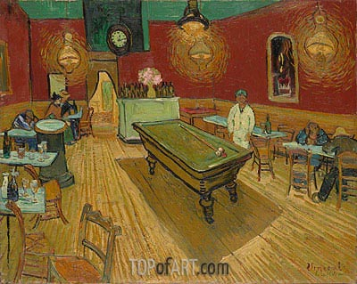 The Night Cafe in the Place Lamartine in Arles, 1888 | Vincent van Gogh| Painting Reproduction