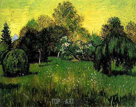 Vincent van Gogh | Public Park with Weeping Willow, September