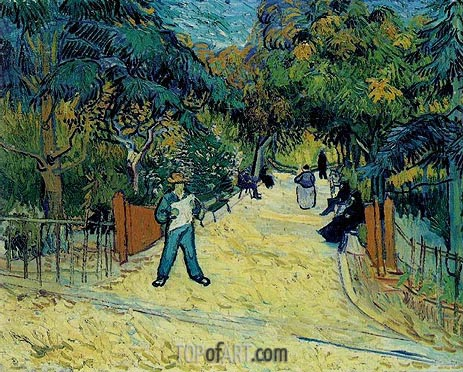 Entrance to the Public Garden in Arles, 1888 | Vincent van Gogh| Painting Reproduction