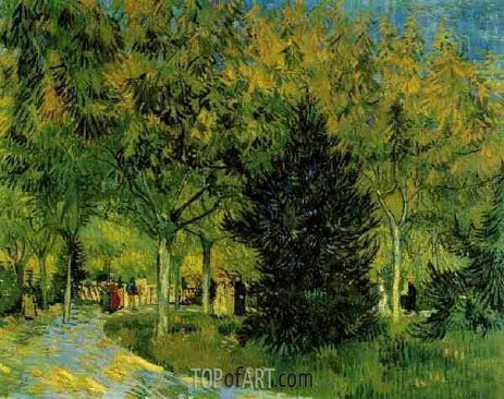 A Lane in the Public Garden at Arles, September | Vincent van Gogh | Painting Reproduction