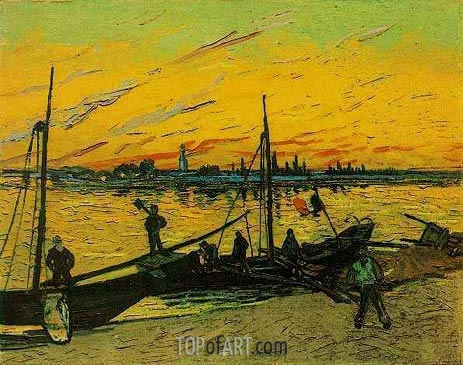 Coal Barges, August 188 | Vincent van Gogh | Painting Reproduction