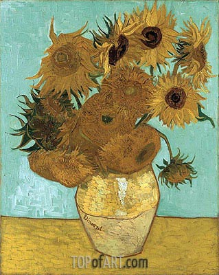 Still Life - Vase with Twelve Sunflowers, 1888 | Vincent van Gogh | Gemälde Reproduktion