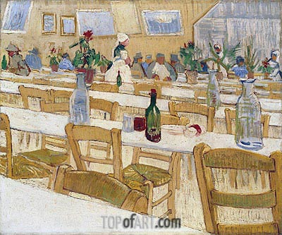 Vincent van Gogh | Interior of the Restaurant Carrel in Arles, 1887