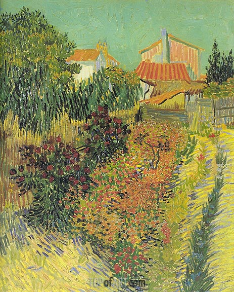 Garden Behind a House, August 188 | Vincent van Gogh | Gemälde Reproduktion