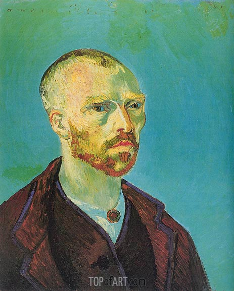 Self-Portrait (Dedicated to Paul Gauguin), September | Vincent van Gogh | Gemälde Reproduktion