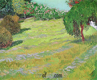 Sunny Lawn in a Public Park, 1888 | Vincent van Gogh| Painting Reproduction