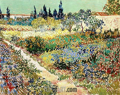 Flowering Garden with Path, 1888 | Vincent van Gogh| Painting Reproduction