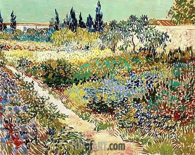 Vincent van Gogh | Flowering Garden with Path, 1888