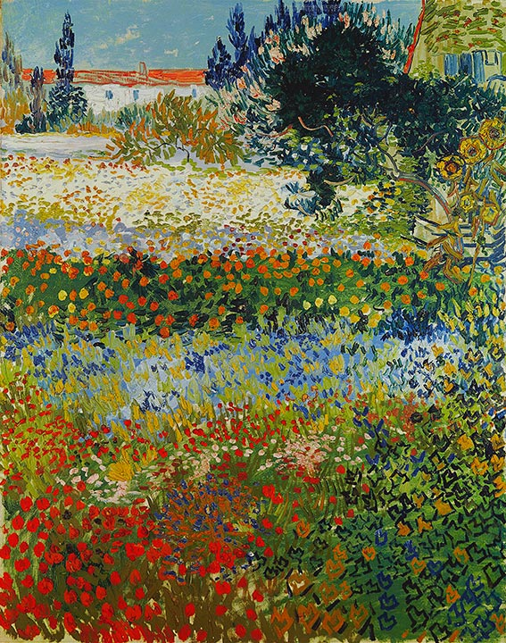 Flowering Garden, 1888 | Vincent van Gogh| Painting Reproduction